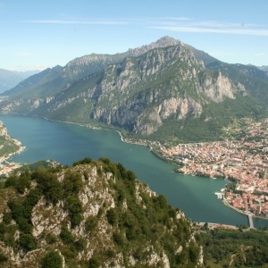 Panorama su Lecco e le Grigne
